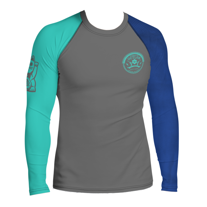 Faixa Azul  - Outlaw Rash Guard - by Nine Lives - Nine Lives Jiu Jitsu