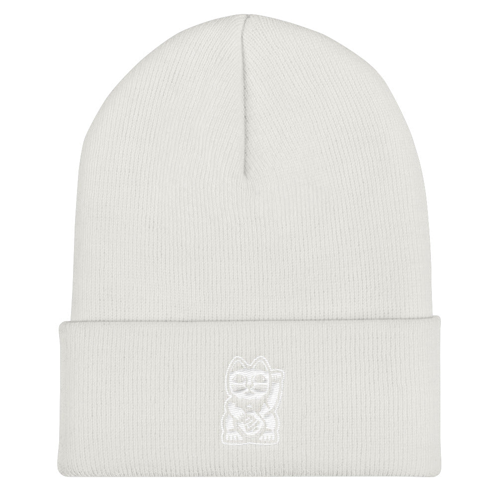 White on White Beanie
