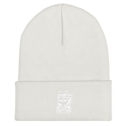 White on White Beanie - Nine Lives Jiu Jitsu