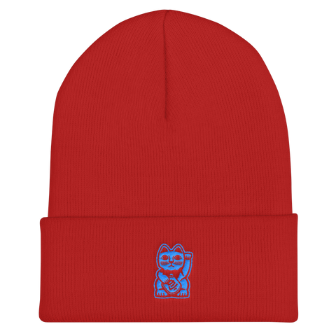 Blood and Blue Beanie - Nine Lives Jiu Jitsu