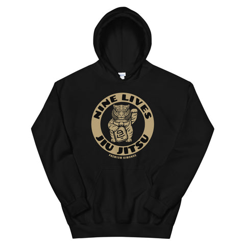 Money Tiger Hoodie - Black - Nine Lives Jiu Jitsu