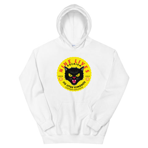 Explosive Hoodie - (Black or White) - Nine Lives Jiu Jitsu