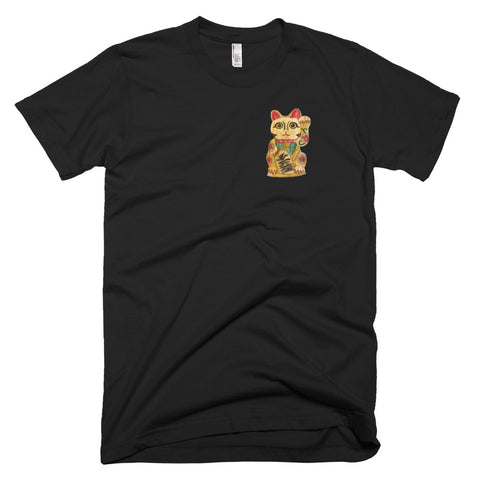 Crayon Cat Tee - Black