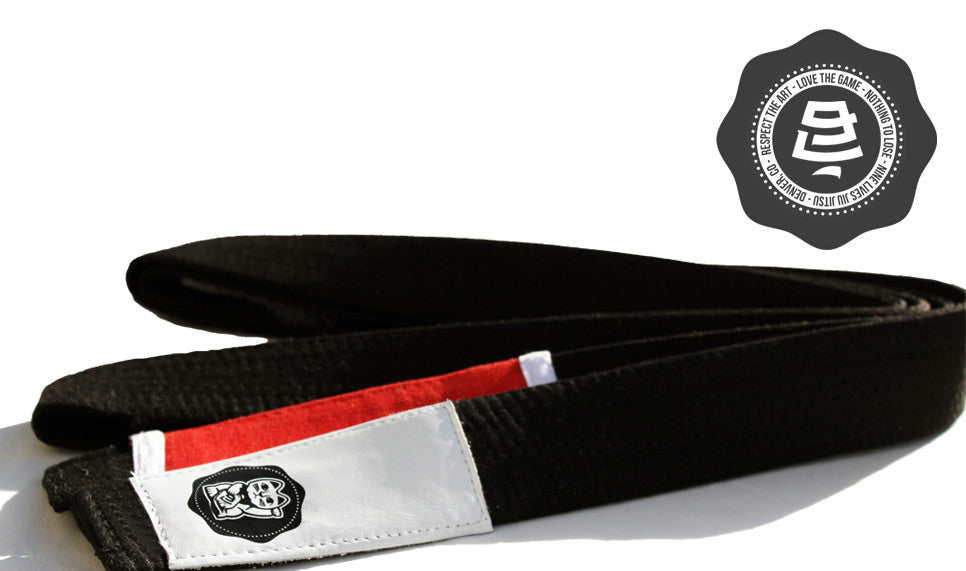 Nine Lives BJJ Belt Leather Money Cat