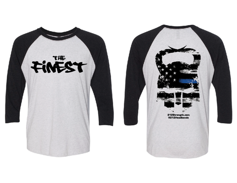 "The ""FINEST"" Adult Raglan Unisex T-Shirt"