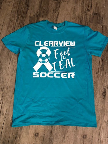 """FEEL THE TEAL"" Fundraiser Tee"