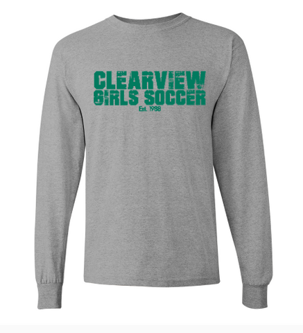 Girls Soccer Long Sleeve Tee