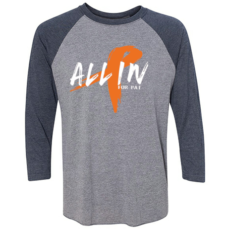ALL IN UNISEX RAGLAN- HEATHER/VINTAGE NAVY