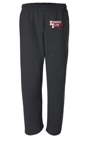 OPEN BOTTOM SWEATPANTS- BLACK