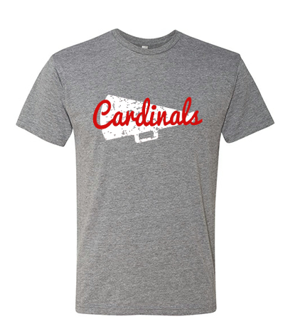 CARDINAL CHEER T-SHIRT: TRIBLEND