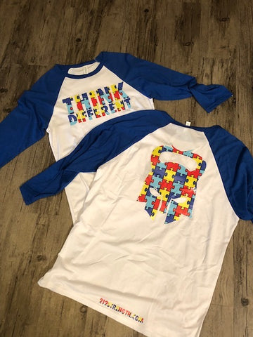 """THINK DIFFERENT"" Raglan"