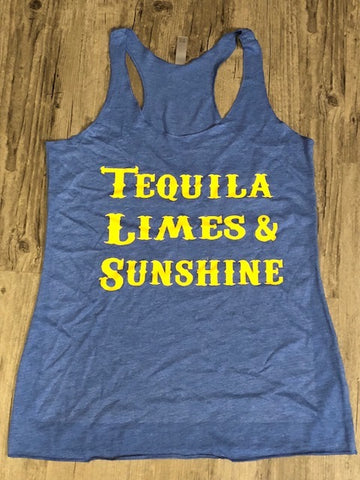 """Tequila, Limes & Sunshine"" Tank"