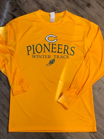 PIONEERS WINTER TRACK Performance Long Sleeve Tee