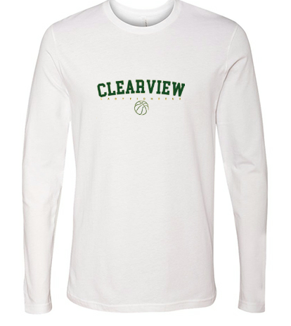 Long Sleeve Tee- Heathered White