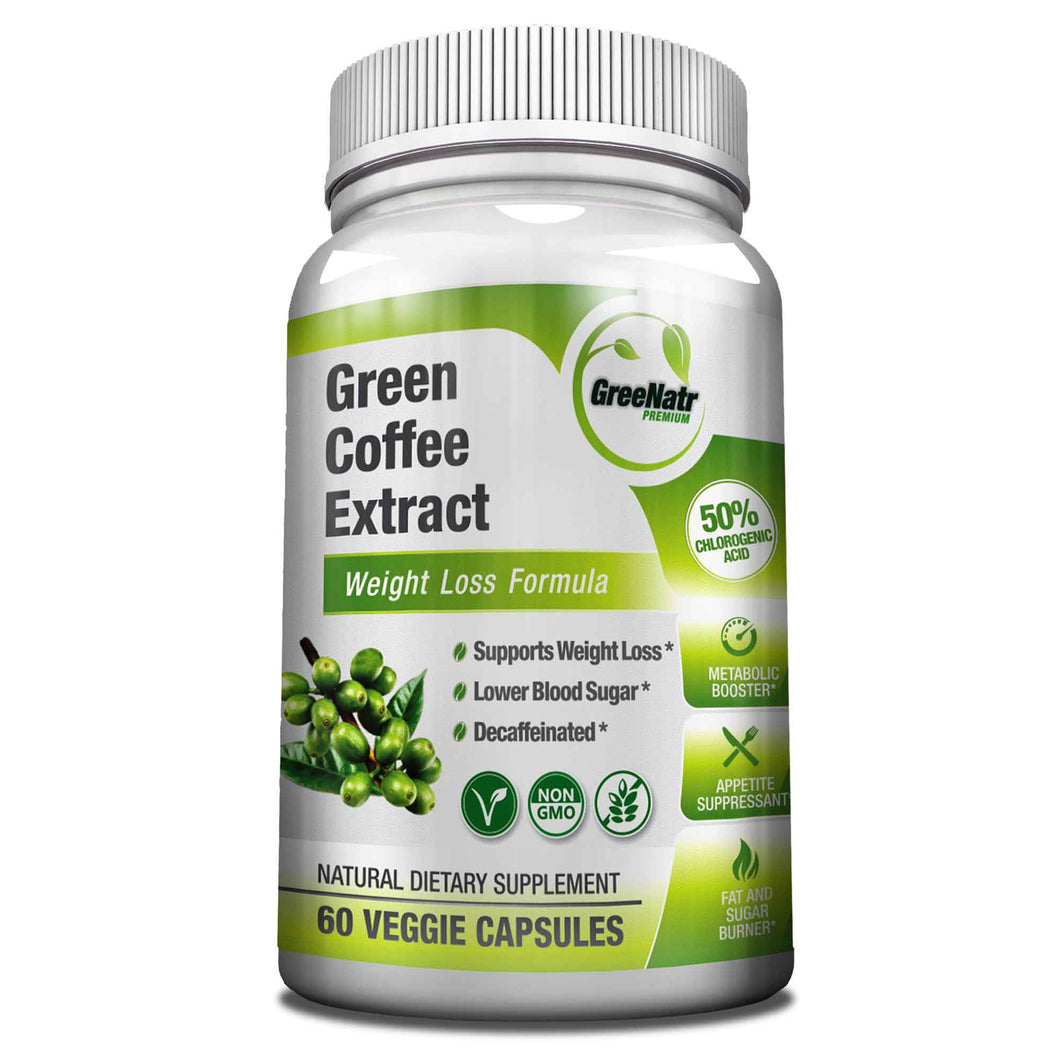 Pure Green Coffee Bean Extract - 50% Chlorogenic Acids