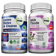 Colon and Liver Cleansing Bundle | Colon Detox and Cleanse + Milk Thistle Liver Cleansing