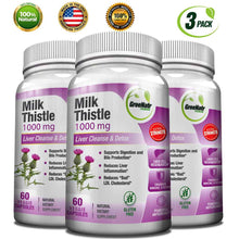 Milk Thistle 1000 mg / Liver Cleanse & Detox
