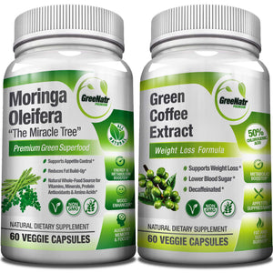 Moringa Oleifera + Green Coffee Bean Extract - Weight Loss Bundle