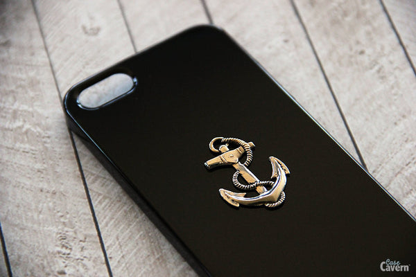 Silver Anchor - Nautical Phone Cases - Case Cavern - 1