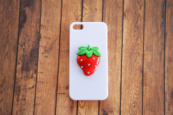 Strawberry - Embellished Phone Cases - Case Cavern - 1