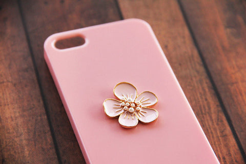 Pink Flower - Cute Smartphone Cases - Case Cavern - 1