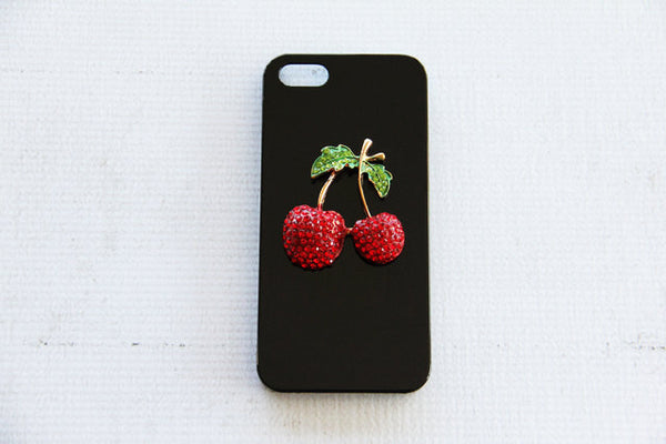Cherry - Embellished Phone Cases - Case Cavern - 2