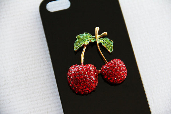 Cherry - Embellished Phone Cases - Case Cavern - 1
