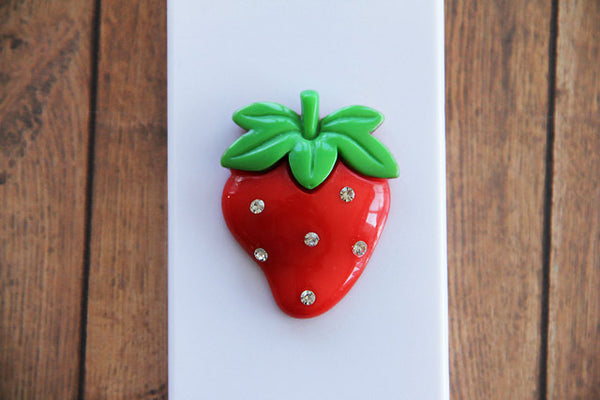Strawberry - Embellished Phone Cases - Case Cavern - 2