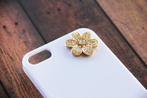 Gold Flower - Cute Smartphone Cases - Case Cavern - 1