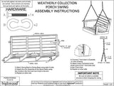 Highwood Weatherly Poly Porch Swing in Weathered Acorn