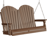 LuxCraft Adirondack Poly / Synthetic / Eco-Friendly Porch Swing - 4 Foot - Magnolia Porch Swings  - 5