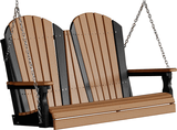 LuxCraft Adirondack Poly / Synthetic / Eco-Friendly Porch Swing - 4 Foot - Magnolia Porch Swings  - 4