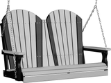 LuxCraft Adirondack Poly / Synthetic / Eco-Friendly Porch Swing - 4 Foot - Magnolia Porch Swings  - 8
