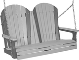 LuxCraft Adirondack Poly / Synthetic / Eco-Friendly Porch Swing - 4 Foot - Magnolia Porch Swings  - 9