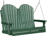 LuxCraft Adirondack Poly / Synthetic / Eco-Friendly Porch Swing - 4 Foot - Magnolia Porch Swings  - 10