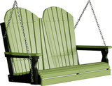 LuxCraft Adirondack Poly / Synthetic / Eco-Friendly Porch Swing - 4 Foot - Magnolia Porch Swings  - 11