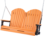 LuxCraft Adirondack Poly / Synthetic / Eco-Friendly Porch Swing - 4 Foot - Magnolia Porch Swings  - 13