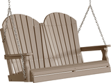 LuxCraft Adirondack Poly / Synthetic / Eco-Friendly Porch Swing - 4 Foot - Magnolia Porch Swings  - 15