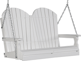 LuxCraft Adirondack Poly / Synthetic / Eco-Friendly Porch Swing - 4 Foot - Magnolia Porch Swings  - 14