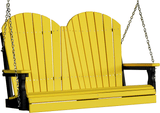 LuxCraft Adirondack Poly / Synthetic / Eco-Friendly Porch Swing - 4 Foot - Magnolia Porch Swings  - 18