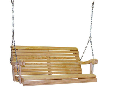 Hershyway Cypress 4 Foot Grandpa Swing - Magnolia Porch Swings  - 1