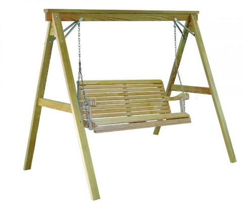 Hershyway Cypress 4 Foot Swing & Stand Set - Magnolia Porch Swings  - 1
