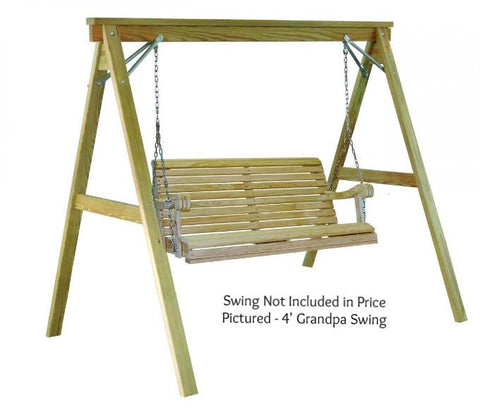 Hershyway A-Frame Swing Stand for 4 Foot Grandpa Swing - Magnolia Porch Swings