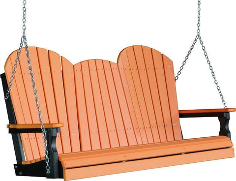 LuxCraft Adirondack Poly / Synthetic / Eco-Friendly Porch Swing - 5 Foot - Magnolia Porch Swings  - 1