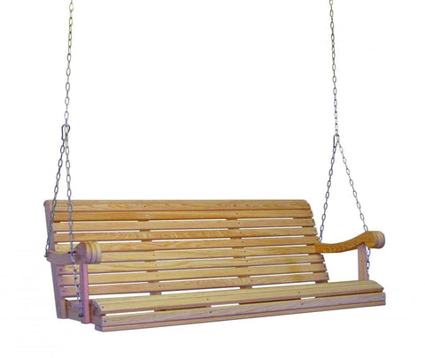 Hershyway Cypress 5 Foot Grandpa Swing - Magnolia Porch Swings  - 1
