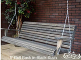 Cypress 3 foot Roll Back Porch Swing