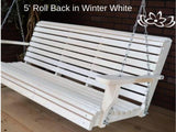 Cypress 2 foot Roll Back Porch Swing