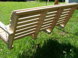 Cypress 4 foot Roll Back Porch Swing