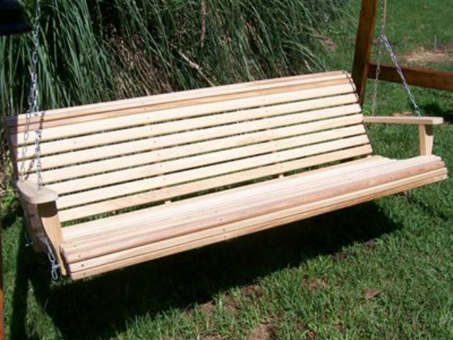 Bench Swing Part - 16: Cypress 6 Foot Roll Back Porch Swing
