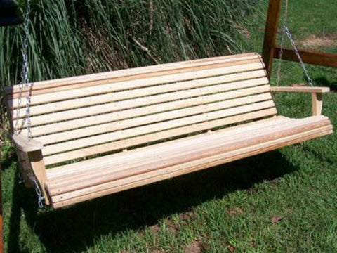 Cypress 6 foot Roll Back Porch Swing